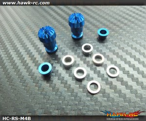 Hawk Creation Adjustable Stick Rocker End Blue Φ10mm (M4, JR TX)